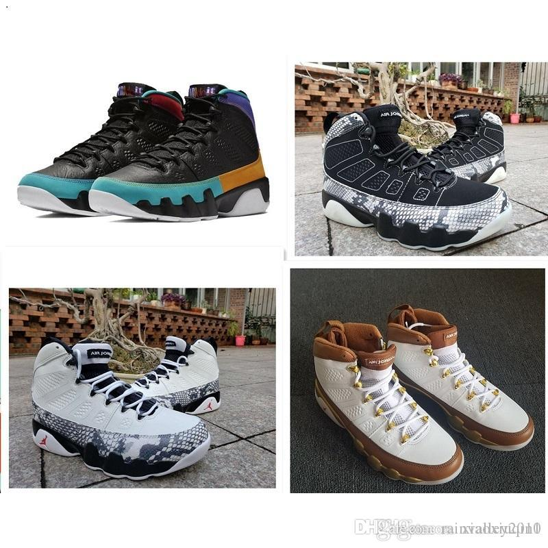 check out c52b0 61ee1 Mens AJ9 basketball shoes retro jumpman 9S IX air flight AJ 9 UNC LA  Anthracite kids sneakers boots with original box size 7-13