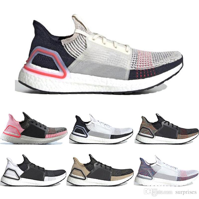 84e4f13f6 2019 Ultra Boost 19 Running Shoes For Men Women Oreo REFRACT True Pink  Ultraboost Mens Trainers Breathable Sports Sneakers Size 36 45 Hoka Running  Shoes ...