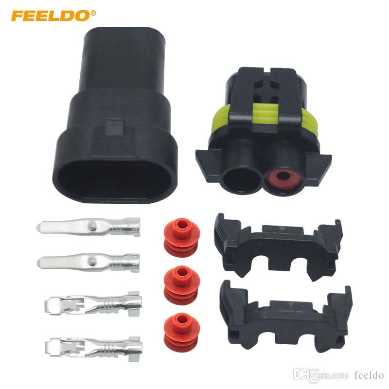 2019 FEELDO Car Motorcycle HB4 9006 Bulb Waterproof Quick Adapter Connector Terminals DIY Plug Male Female Kit 2461 From Feeldo 108