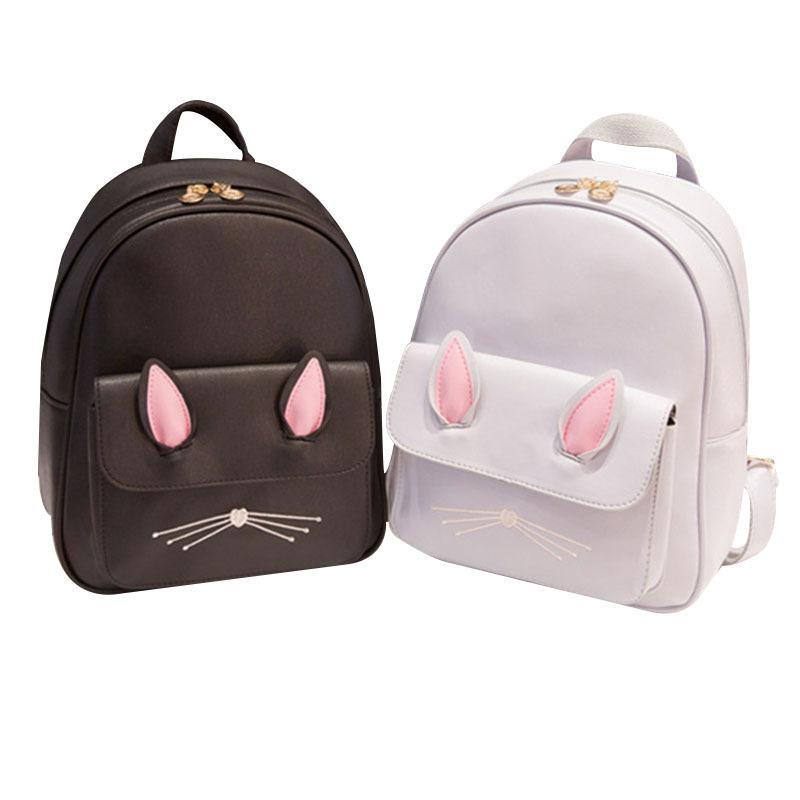 Mara  Dream 2019 Cat Ears Backpack Female Funny Pu Leather Anime Back To School  Bag For Teenagers Girls Small Backpacks Mochila Kelty Backpack Camo Backpack  ... bddf6fae65bc9