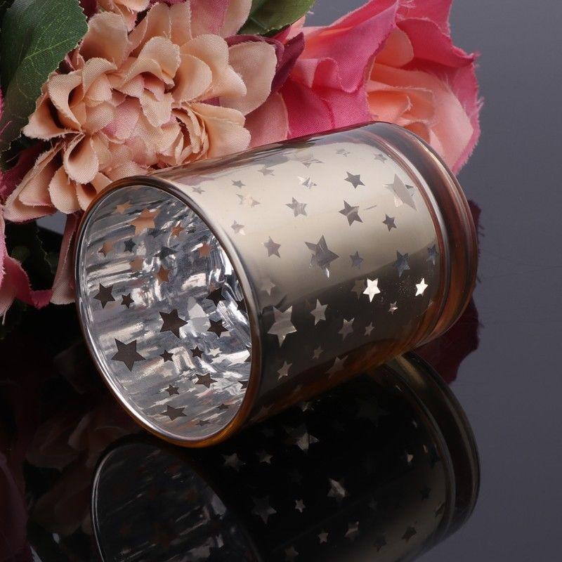 Мозаика из стекла Подсвечники Votive Tealight держатель Романтической звезда для свадебной Home Decor Party