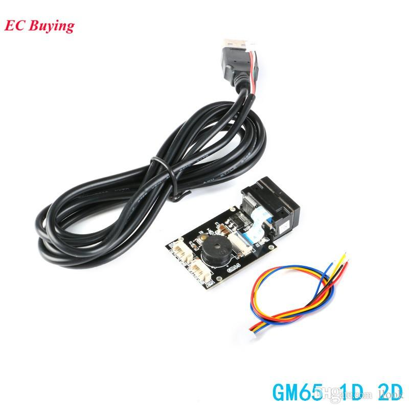 Freeshipping GM65 1D 2D Barcode Reading Board QR Code Scanner Reader Module USB URAT DIY Electronic Kit with Cable Connector CMOS