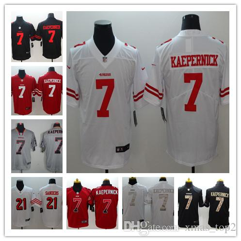 low priced 4bd3e 9718a New Mens 7 Colin Kaepernick Jersey San Francisco 49ers Football Jersey 100%  Stitched Embroidery Colin Kaepernick Color Rush Football Shirt