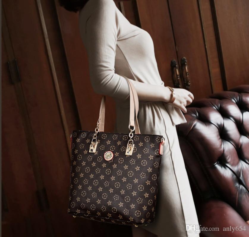 Nuove Donne Borse Borse In Pelle Borsa A Tracolla Moda Femminile Borsa Di Alta Qualità 6-Piece Set Designer Brand Bolsa Feminina