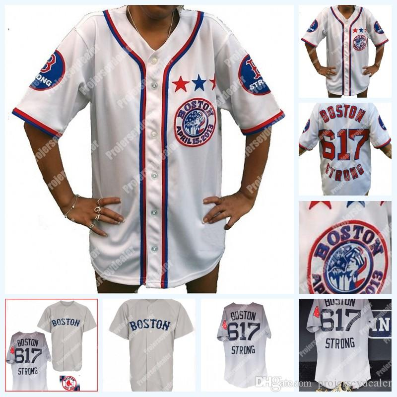 7b783172 2019 Boston 617 B Strong White Patriots Day Marathon Tribute Baseball Jersey  Red Sox Away Road BOSTON 617 STRONG Jersey For Mens Womens Youth From ...