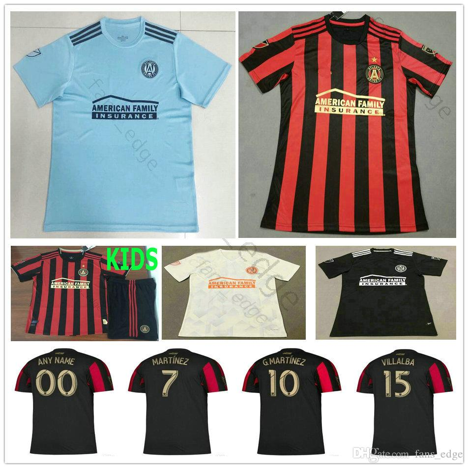 competitive price eee9c 2b5bb 2019 2020 MLS Parley Atlanta United FC Soccer Jerseys 10 ALMIRON MCCANN  VILLALBA 7 MARTINEZ GARZA Custom Home Away Adult Kids Football Shirt