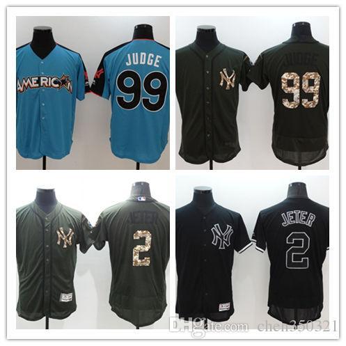 Men s Yankees Home Cool Base Custom Jersey 2 Derek Jeter 99 Aaron ... 2caf73ee690