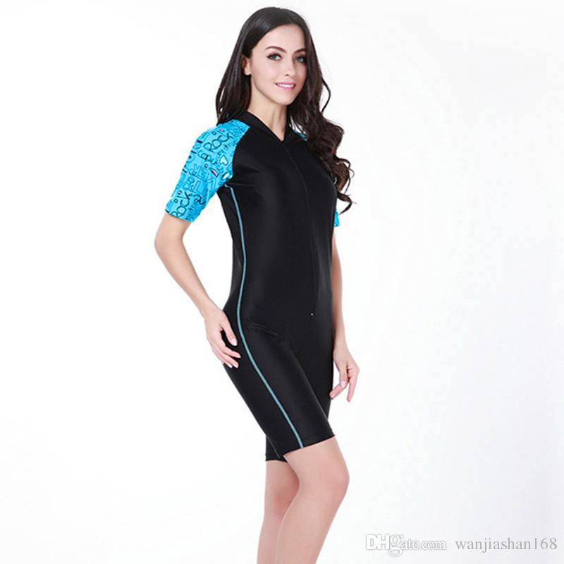 cb9579cc7021c 2019 Women Dive Suit Leotards Unitards Swimsuit One Piece Swimwear Full  Body Bodywear Tight Wetsuit From Wanjiashan168