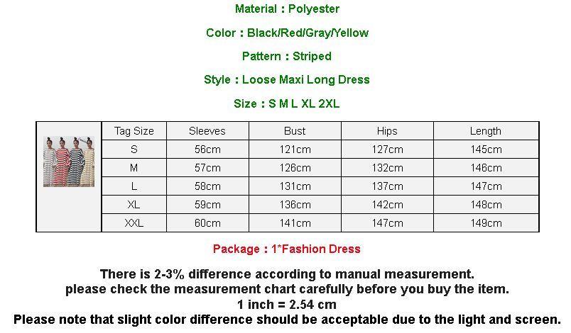 Listrada manga comprida Baggy Cotton Oversized Maxi longa camisa do New Vestido Mulheres