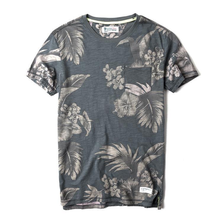 f331e742 Fashion design summer men's clothing nostalgic washed bamboo section cotton  color mens t shirt round neck short-sleeved tshirt shirts