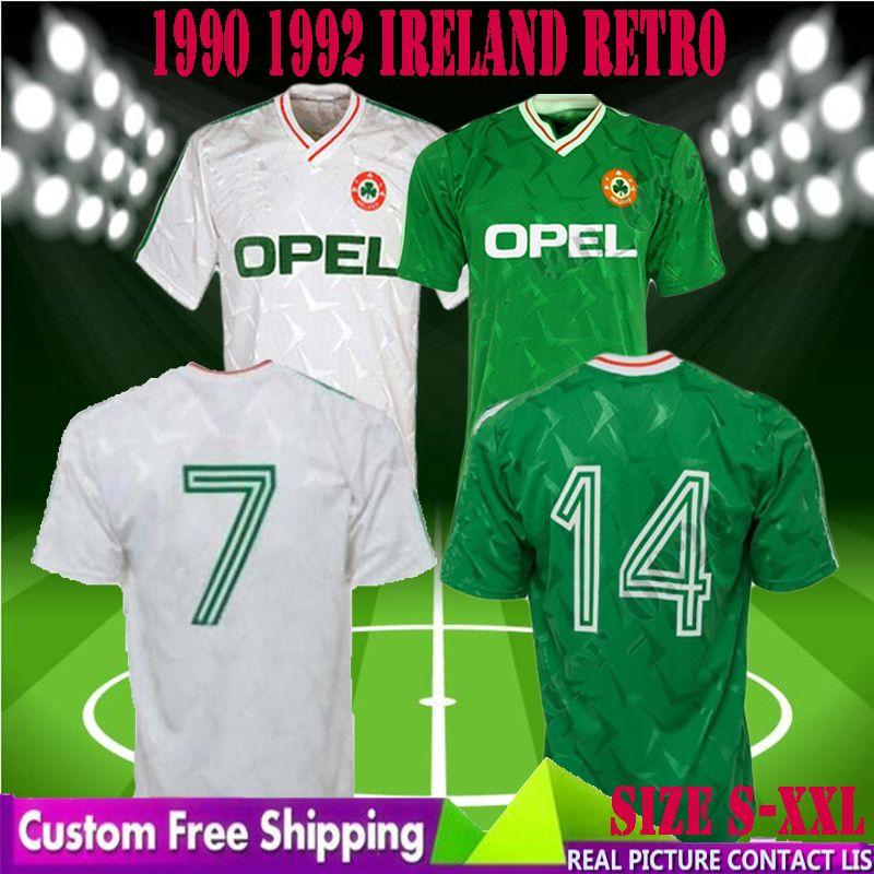 0b826e426715 2019 90 92 Ireland Retro Soccer Jersey 1990 World Cup Ireland Home Classic  Jersey 1990 1992 Vintage Irish Sheedy Football Shirts Men Size S XXL From  ...