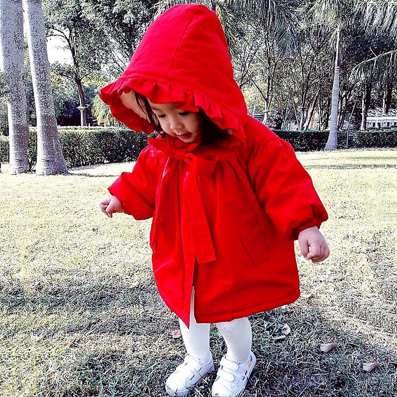 580a27424f5ed Toddler Girls Hooded Red Coats Kids Winter Outerwear Baby Girl Thick ...