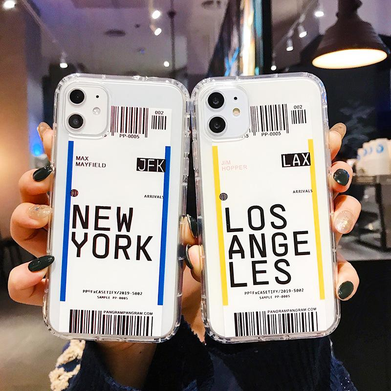 Creative Air Ticket Case For IPhone Xs 11 Pro Max X Xr 7 8