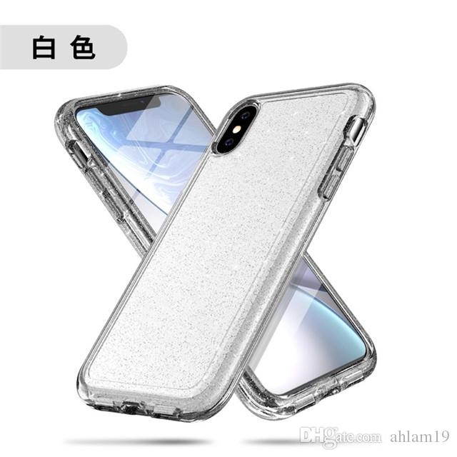 detailed look 51f8b 19cfd 2018 wholesale clear bling mobile back covers luxury blank transparent  mobile phone case for iPhone x