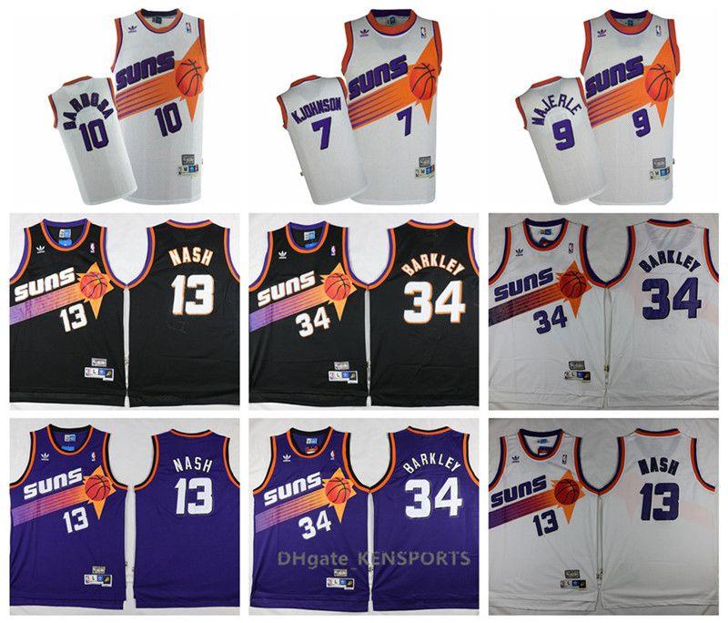 ed7fe3cfb 2019 Retro 2019 Phoenix Basketball Suns Jersey  13 Steve Nash  34 Charles  Barkley 9 Majerle 10 Barbosa 7 Kjohnson Stitched Basketball Jerseys From ...