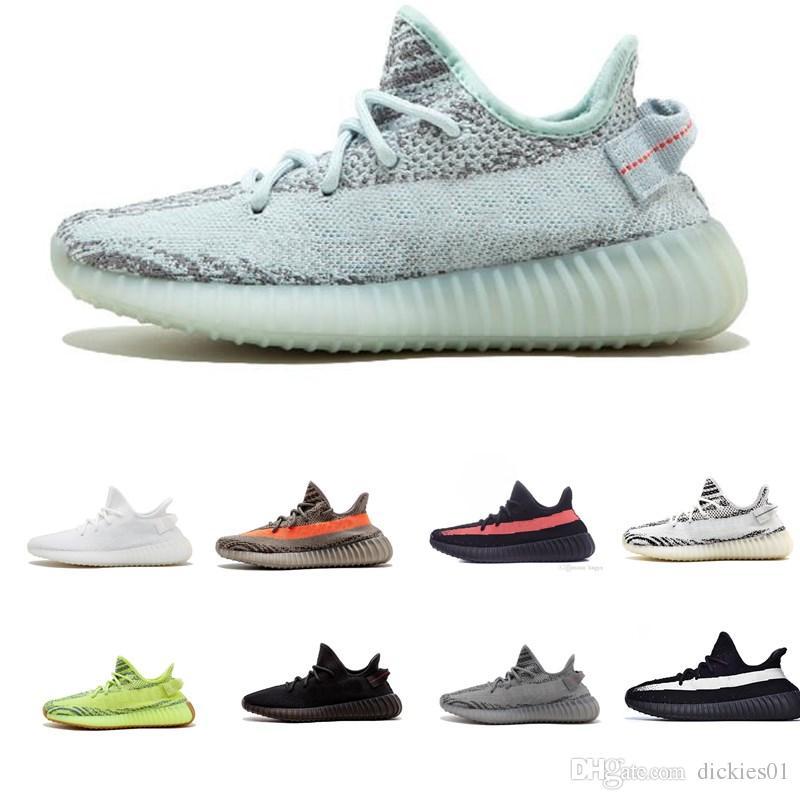 quality design 8f38e 8f4f6 Compre Adidas Yeezy Supreme SPLY 350 Boost 2019 Calidad Mejores Ofertasa V2  Hombres Estáticos Mantequilla Sésamo Negro Damas Diseñador Zapatos A  92.39  Del ...
