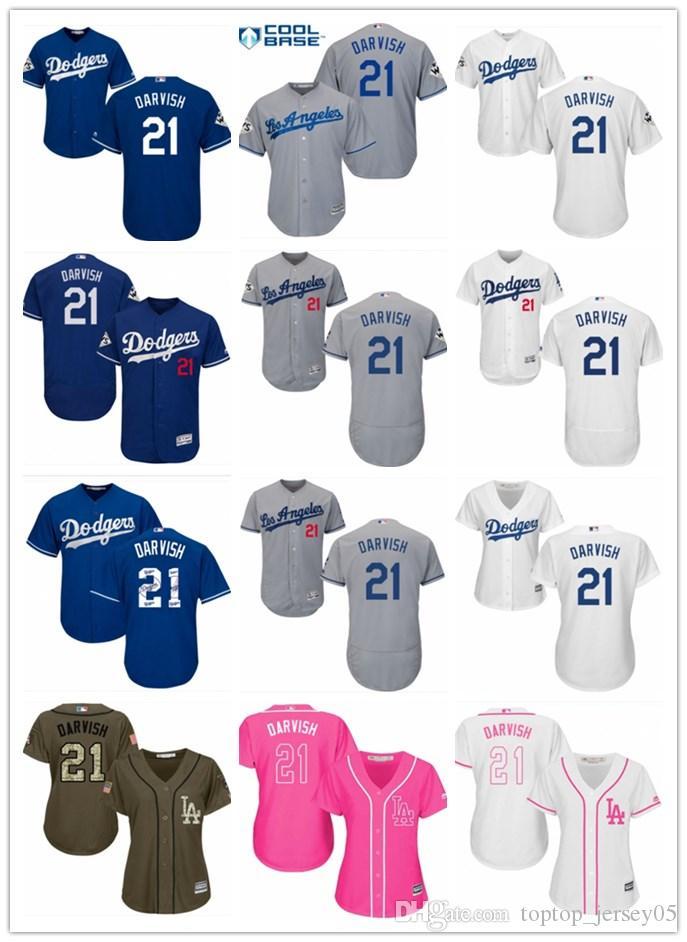 2019 2018 Top Los Angeles Dodgers Jerseys  21 Yu Darvish Jerseys  Men WOMEN YOUTH Men S Baseball Jersey Majestic Stitched Professional  Sportswear From ... a5cd3c95263