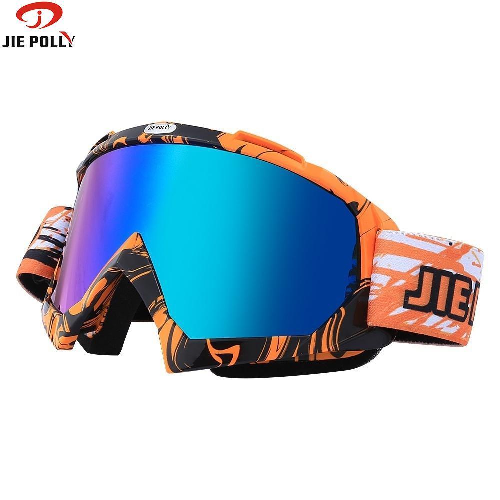 6673bc4937815 Acheter Lunettes De Ski Jiepolly Lunettes De Soleil De Vélo Lunettes De  Moto Lunettes Anti UV Lunettes De Vélo Motocross Anti Vent Anti Vent De   21.98 Du ...