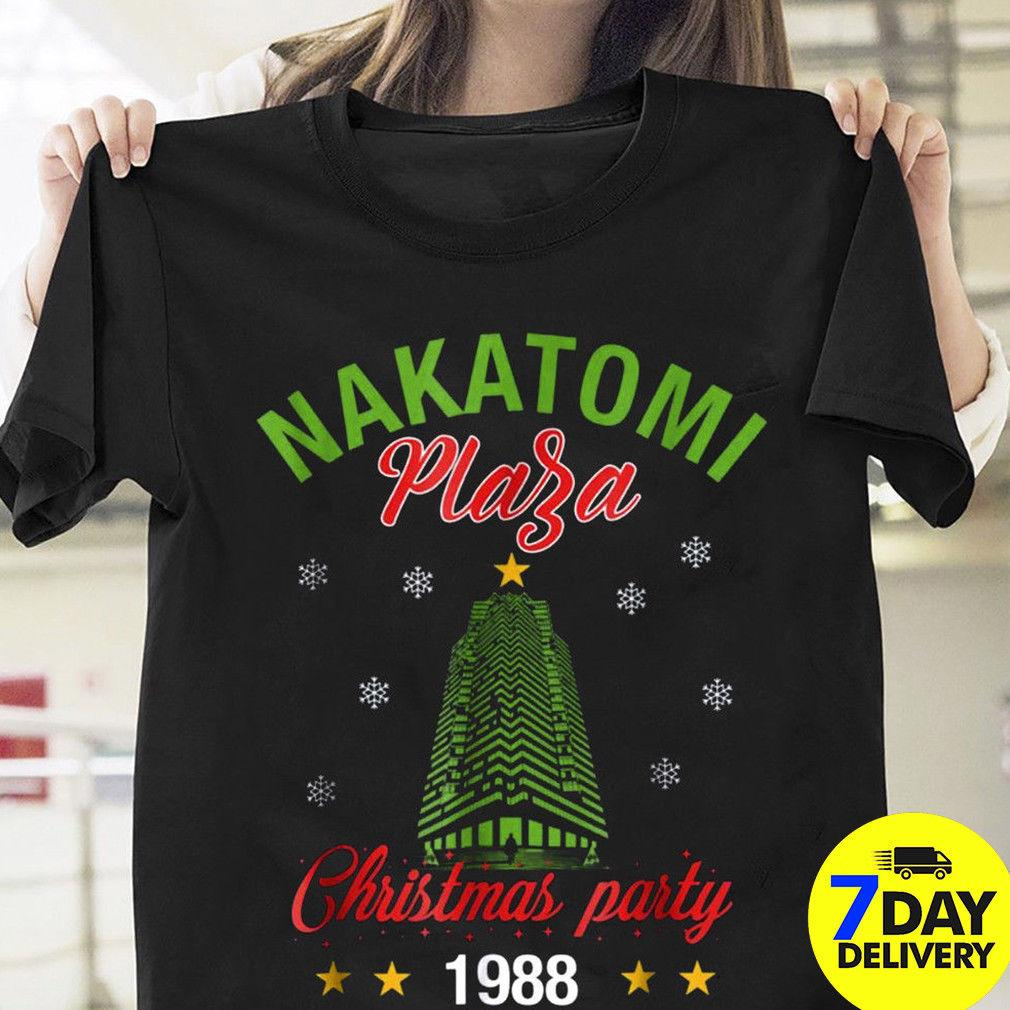 2cf98e958 Nakatomi Plaza Christmas Party 1988 T Shirt Black Xmas Party S 3XL Men Women  Unisex Fashion Tshirt Funny T Shirts For Men Make T Shirts From ...