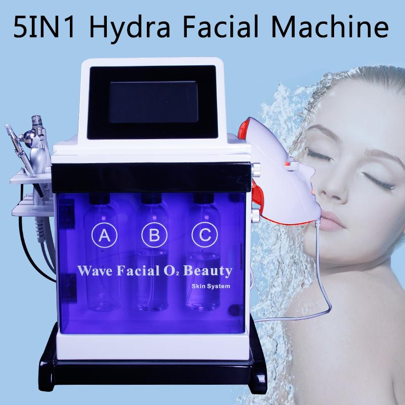 5 IN 1 Hydra Facial Dermabrasion skin care Machine Hydrafacial Microdermabrasion BIO lifting beauty equipment free shipping