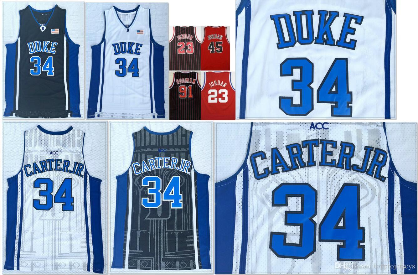 best sneakers 00e9a 77efa Duke Blue Devils #34 Wendell Carter Mens College Basketball Shirts Chicago  23 Michael J 91 Dennis Rodman Vintage Stitched Baseball Jerseys