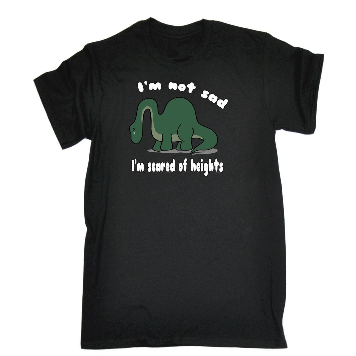 29b681491904 Im Not Sad Im Scared Of Heights Dinosaur T SHIRT Cute Dino Birthday Fashion  Gift Amusing T Shirts With T Shirt From Jie45, $14.67| DHgate.Com
