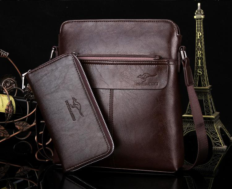 f883cd7a310e Designer Famous Brand Leather Men Business Bag Briefcase Casual ...