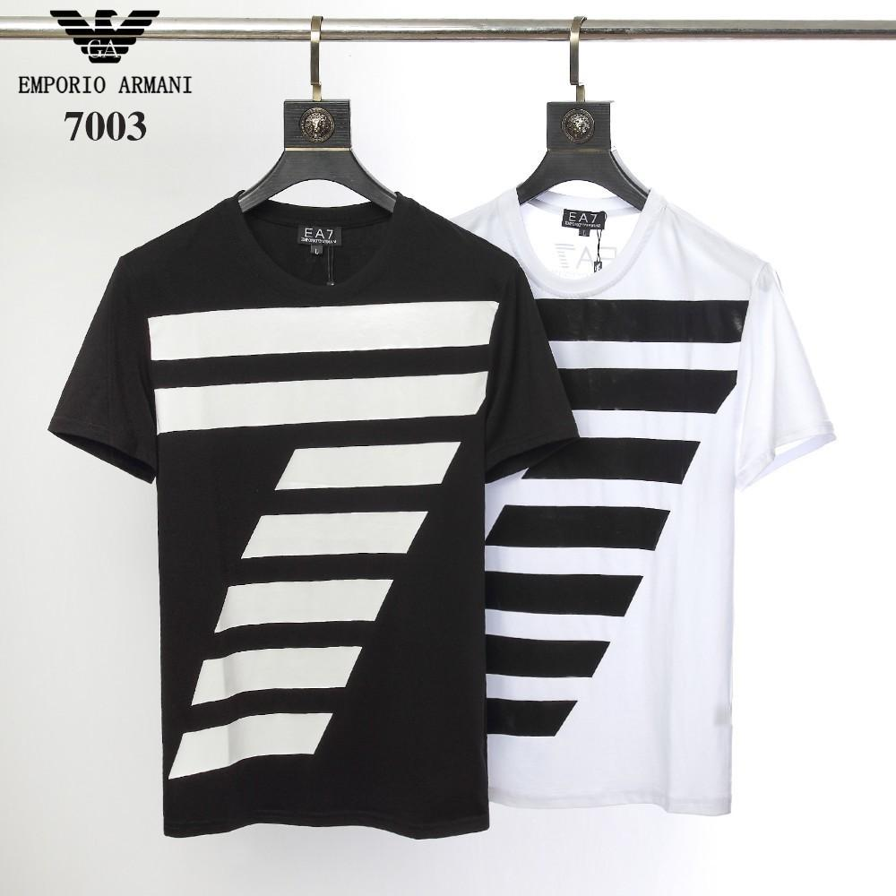 b2ad01fa6bc740 2019 new explosions cotton bottoming shirt summer personality casual men's  short-sleeved T-shirt fashion high-end handsome male7003