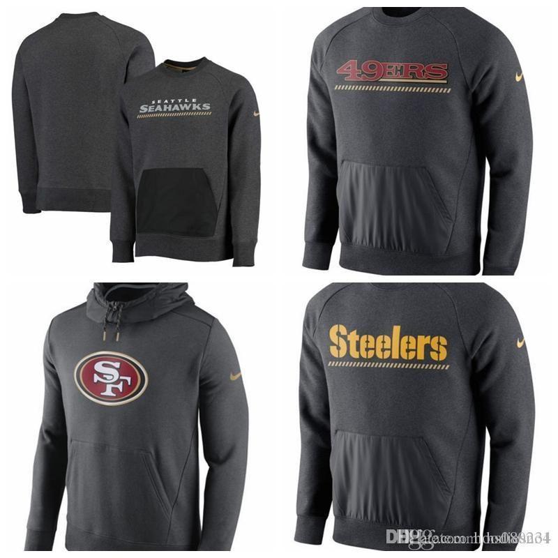 on sale 535bf 1231c Seattle Seahawks San Francisco 49ers Pittsburgh Steelers Championship Drive  Gold Collection Hybrid Performance Fleece Sweatshirt Hoodie