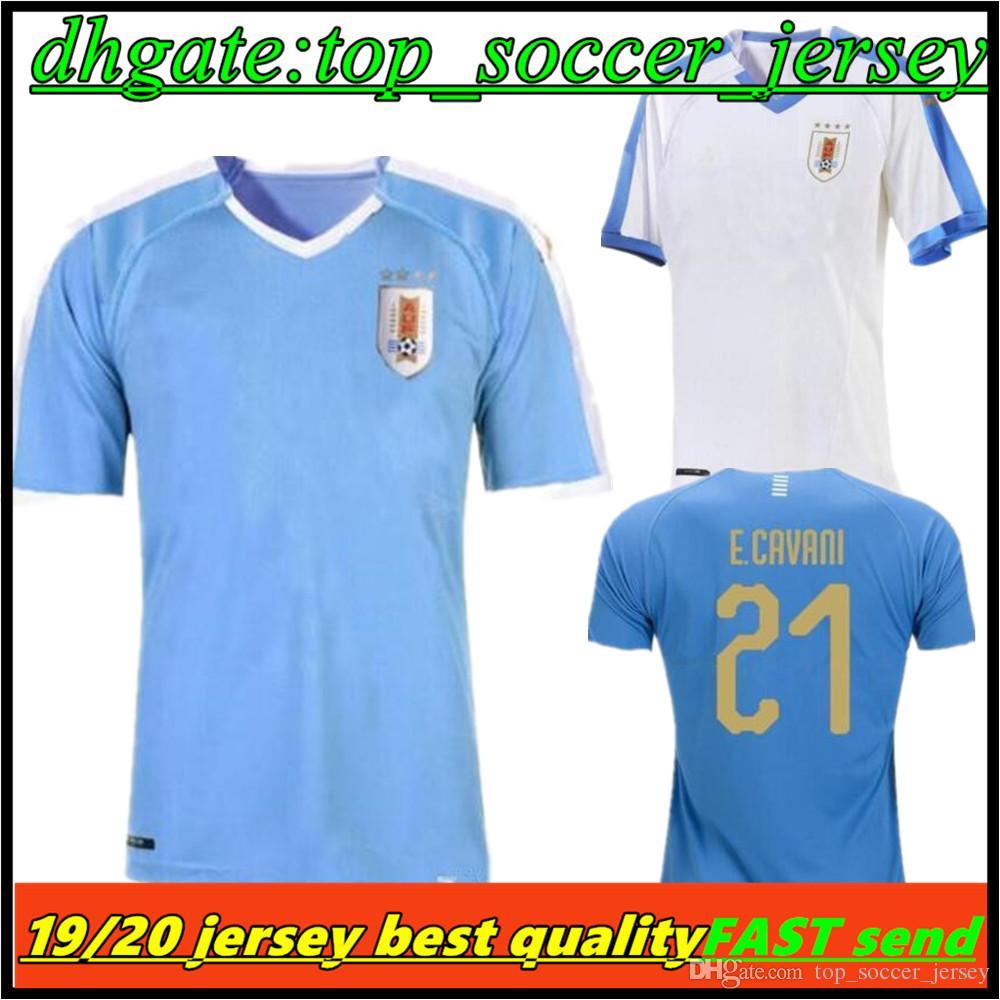 b88169b9428 2019 2019 Copa America Uruguay Soccer Jersey 19 20 Home 9 L.Suarez 21  E.Cavani Soccer Shirt  3 D.GODIN Away National Team Football Uniforms From  ...