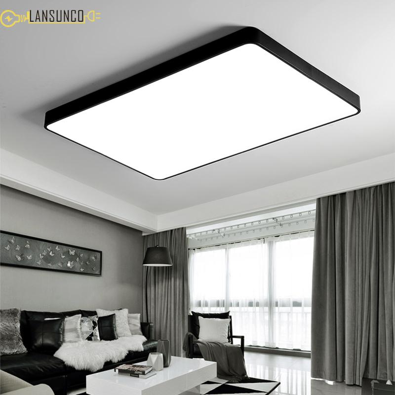 Acheter Plafonniers LED Ultra Mince Moderne Plafond Lampe Luminaires ...