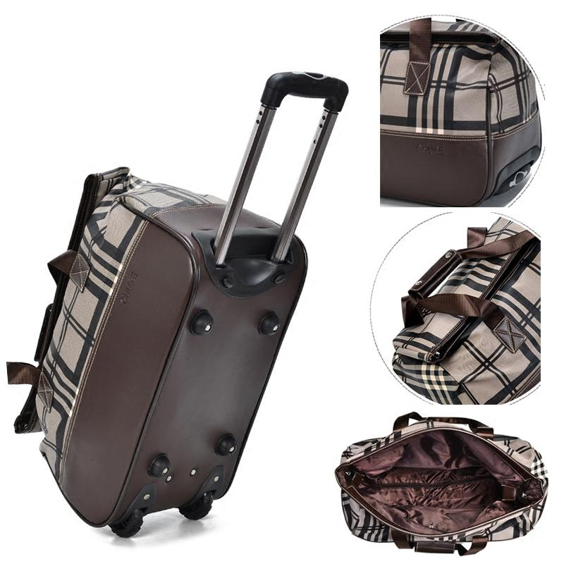3dc46c2a14b6 Hot Rolling Luggage Travel Bag On Wheels Trolley Luggage Shopping ...