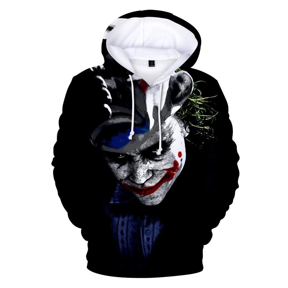 save off 3ee11 627ec Lustige clown joker 3d hoodies pullover druck hip hop mode männer frauen  hoodie hoody beiläufige langarm 3d mit kapuze sweatshirts tops