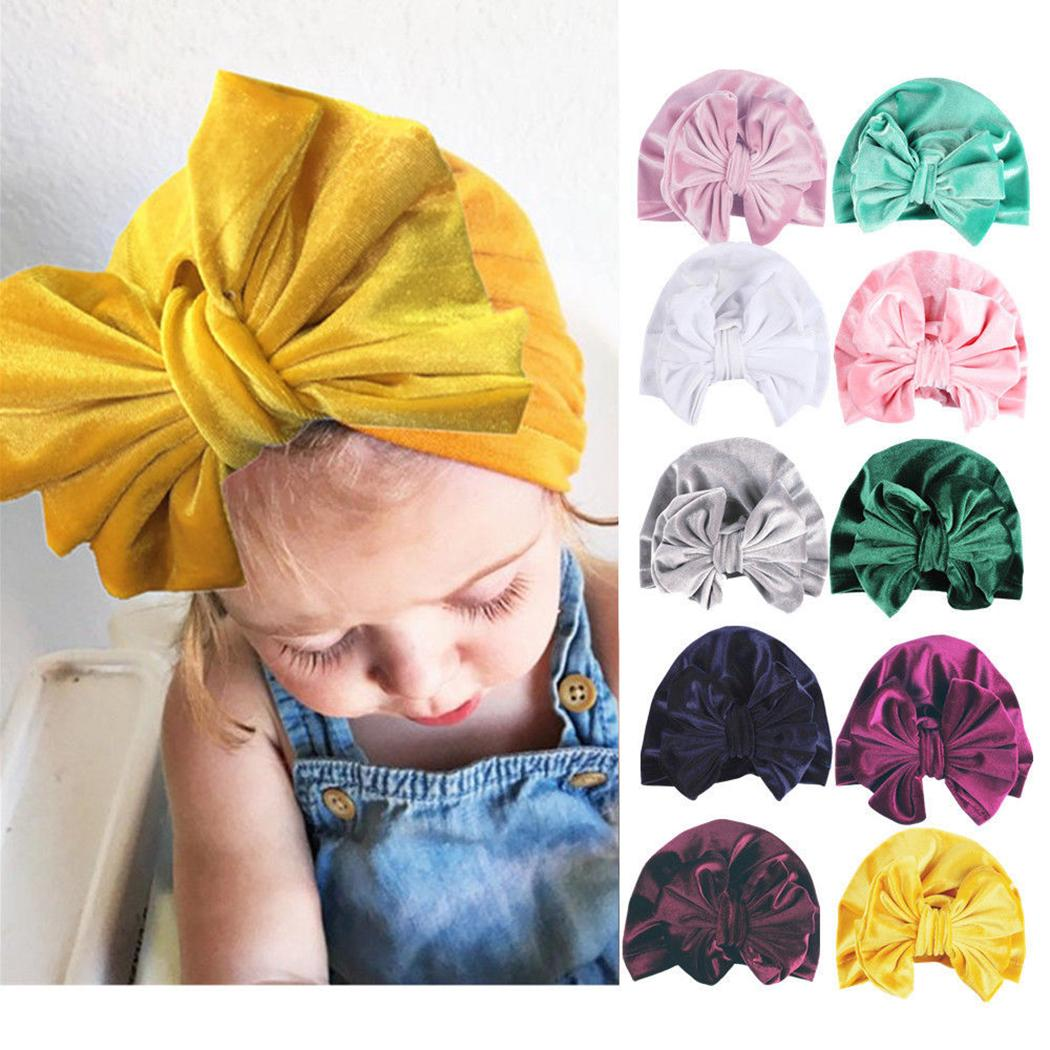 Boys' Baby Clothing Fashion Velvet Baby Hat For Girls Boys Autumn Winter Baby Turban Cap Photography Props Elastic Infant Beanie Baby Accessories Accessories