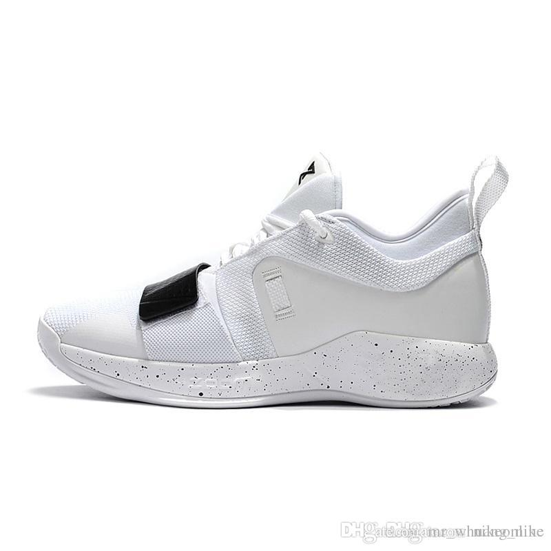 fbfc112ef6 Cheap new 2018 Mens PG 2.5 Elite basketball shoes 2s Triple White Black  Zoom Air Cushion Paul George PG2 sneakers with original box for sale