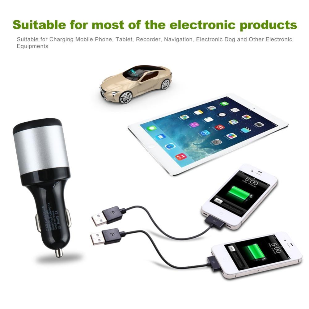 12V-24V Auto Zigarettenanzünder Splitter Stecker Dual USB Ladegerät Adapter 1A + 2.1A für iPhone Samsung Für bmw peugeot passat VW