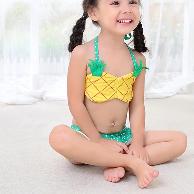 42a95385b1044 Children Swimsuit Kids Girl Swimwear Swimsuit For 0-5 Years Kids Baby Girl  Bikini cute Toddler Girls Bathing Suits 3Pieces Swimming