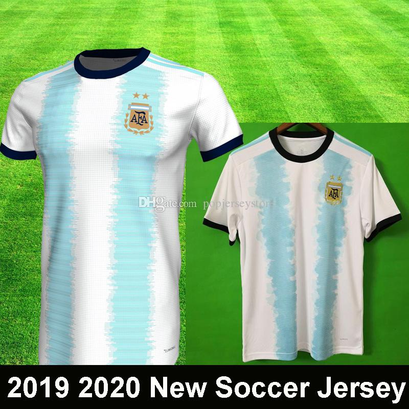 4eed475e9bf 2019 2020 LIONEL MESSI Argentina Home Soccer Jersey Copa America DYBALA  ICARDI HIGUAIN New Camisetas De Futbol Football Shirt Top Quality Canada  2019 From ...