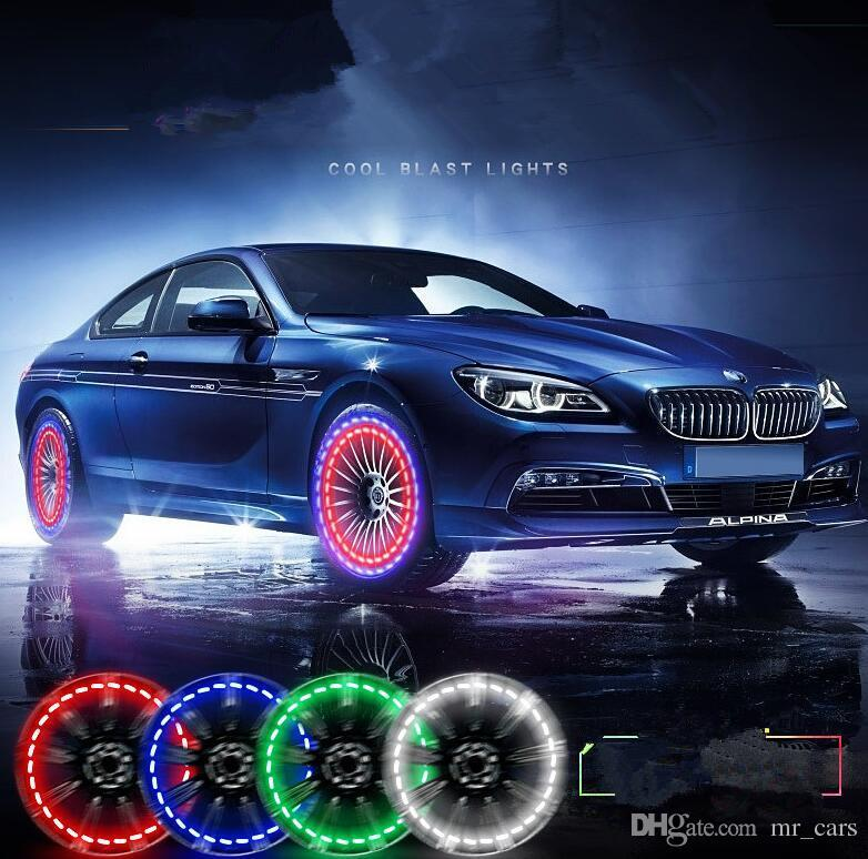 15 Mode Solar Energy LED Car Auto Flash Wheel Tire Valve Cap Neon DRL Daytime Running Light Lamp Car Accessories Wheels Lamp KKA4537