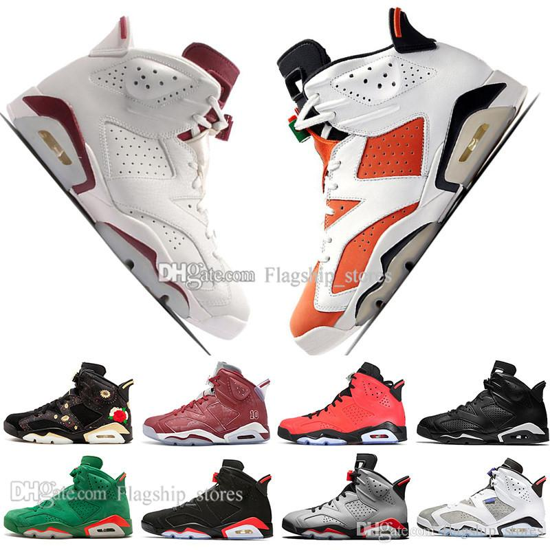 best service d316f 63128 6 6s Mens Basketball Shoes Infrared 23 3M Reflective Bugs Bunny Tinker  Black Cat UNC Slam Dunk Low Chrome Men Sports Sneakers US 7-13
