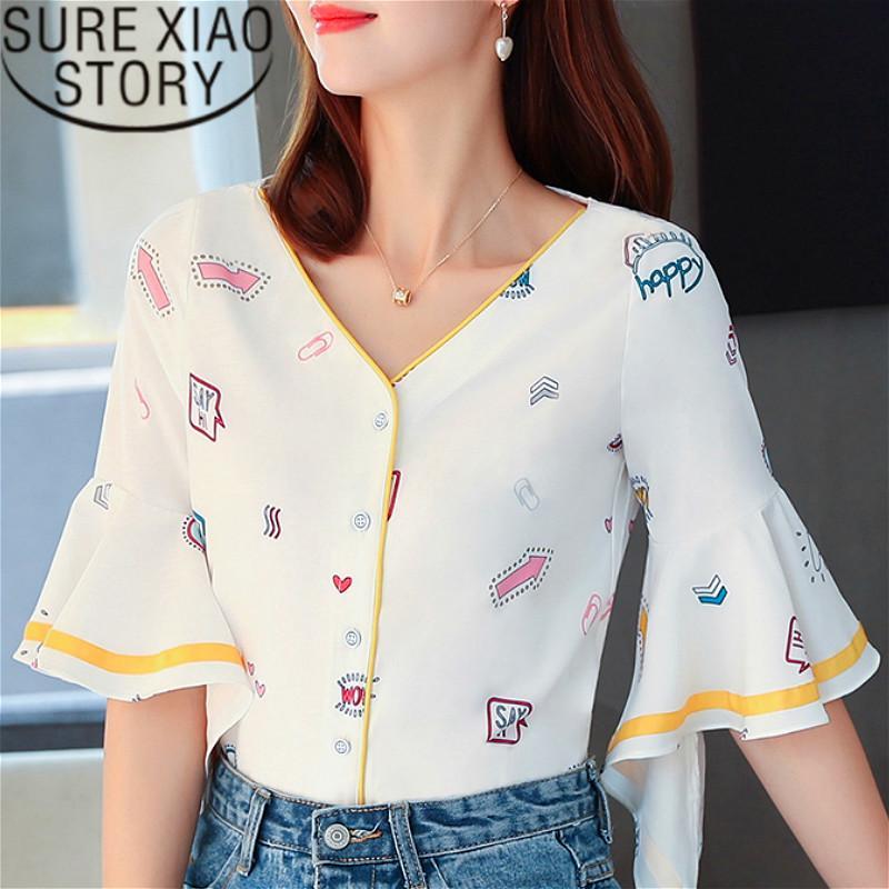9b3054f48c14 Compre Ropa De Moda Coreana 2019 Ropa Para Mujer Blusa De Gasa Tops Blusa De  Gasa Harajuku Mujeres Camisas Blancas 2759 50 A $23.39 Del Yonnie    DHgate.Com