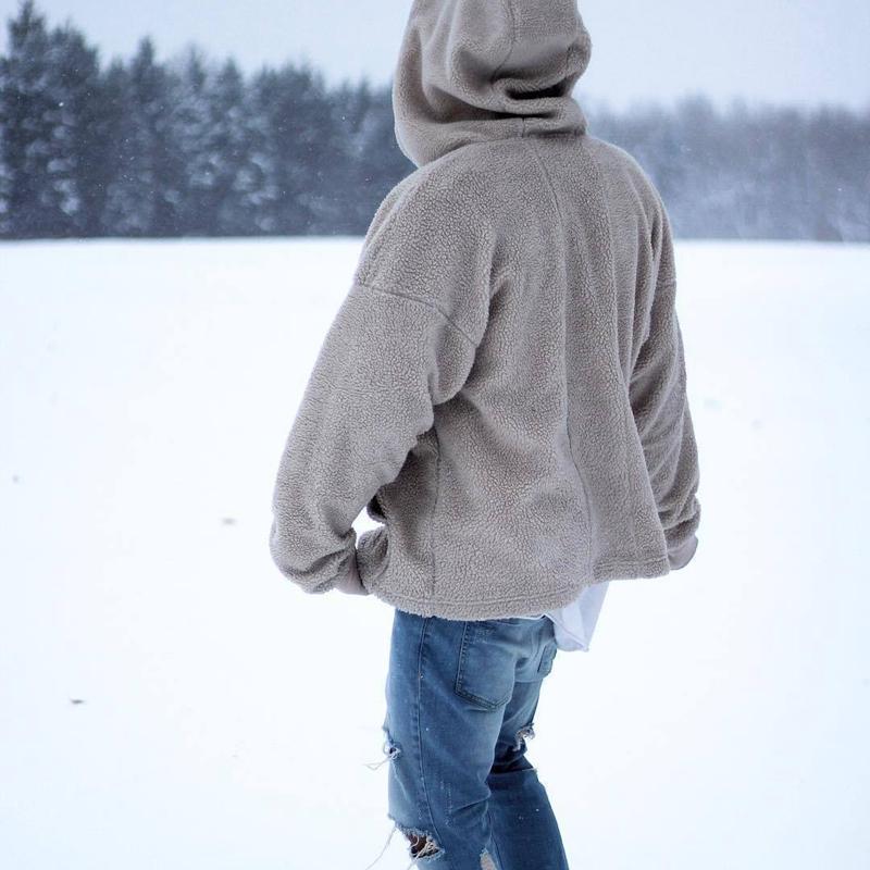 3e9bbda41fb 2019 Hirigin Winter Warm Men Casual Fluffy Fleece Zip Up Pockets Hooded Sweatshirt  Teddy Bear Stylish Hoodie Pullovers Outwear Tops From Darnelly