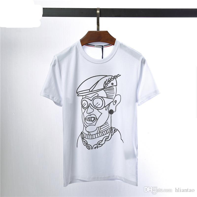 cb5298051c 2019SS Brand Clothing O-neck Men's T Shirt Men Fashion Tshirts Fitness  Casual For Male T-shirt M-3XL MC6006