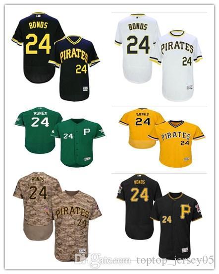 new products d7d72 8edd1 2018 Pittsburgh Pirates Jerseys #24 Barry Bonds Jerseys men#WOMEN#YOUTH#Men  s Baseball Jersey Majestic Stitched Professional sportswear