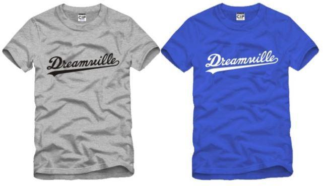 Ücretsiz kargo yüksek kalite pamuk tee yeni satış DREAMVILLE J KOL LOGOSU baskılı t gömlek hip hop tişörtlerin% 100% pamuk 6 renk