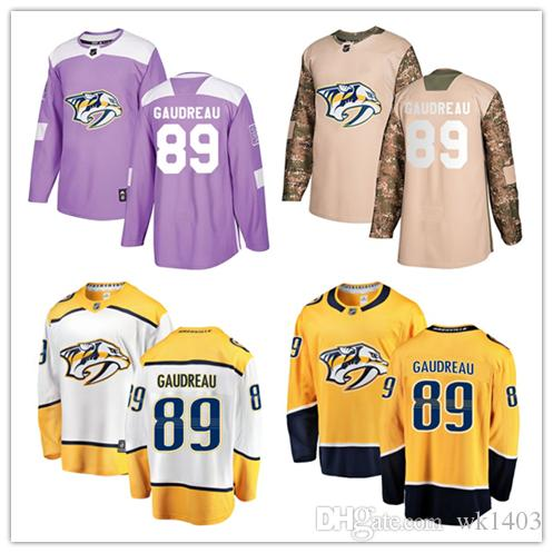 finest selection 5985a 16f73 Nashville Predators jerseys #89 Frederick Gaudreau Jersey hockey men women  youth gold yellow white home Breakaway Stiched authentic Jerseys
