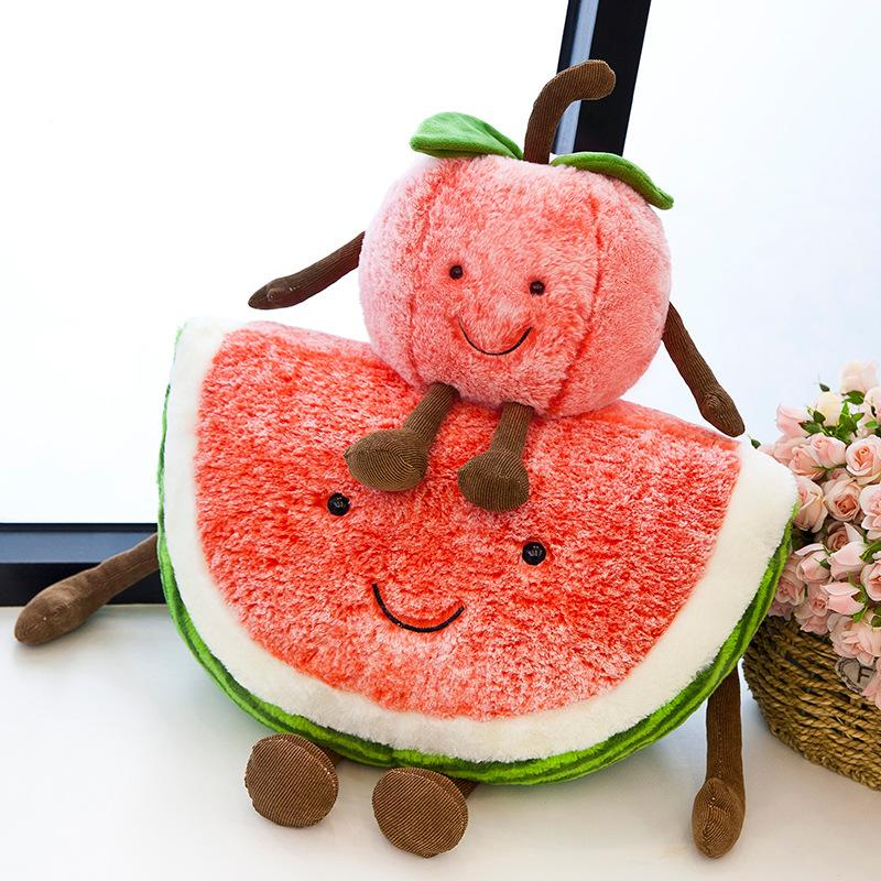 Cartoon Fruits Plush Animal Doll Soft Stuffed Doll Sofa Sleep Pillow Different Shapes Cherry 8 5cx F1