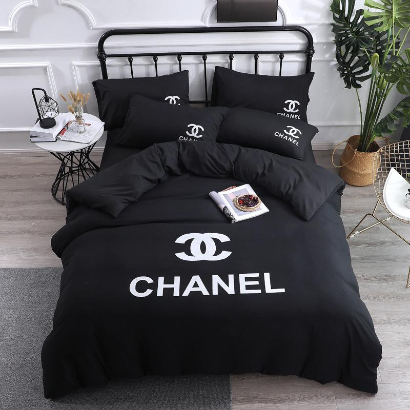 Explosive models simple wash four-piece suit Fashion big-name queen Bed Comforters Sets designer bedding sets Quilt cover 4 pieces suit
