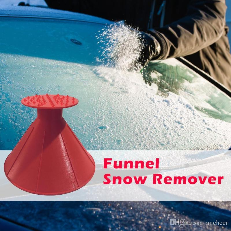 United Outdoor Ice Shovel Cone Shaped Funnel Snow Remover Clean Tool Scrape Ice Scraper Useful Car Windshield Snow Removal Magic Garden Tools