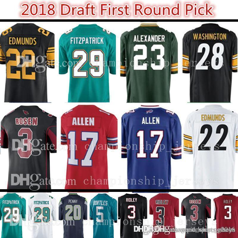 sale retailer 0fab4 3aefd Pittsburgh 22 Terrell Edmunds 28 James Washington Steeler Jersey Miami 29  Minkah Fitzpatrick Dolphin Jerseys 2018 Draft First Round Pick